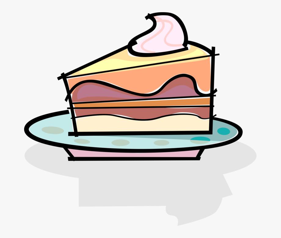 Slice Of Dessert Cake.