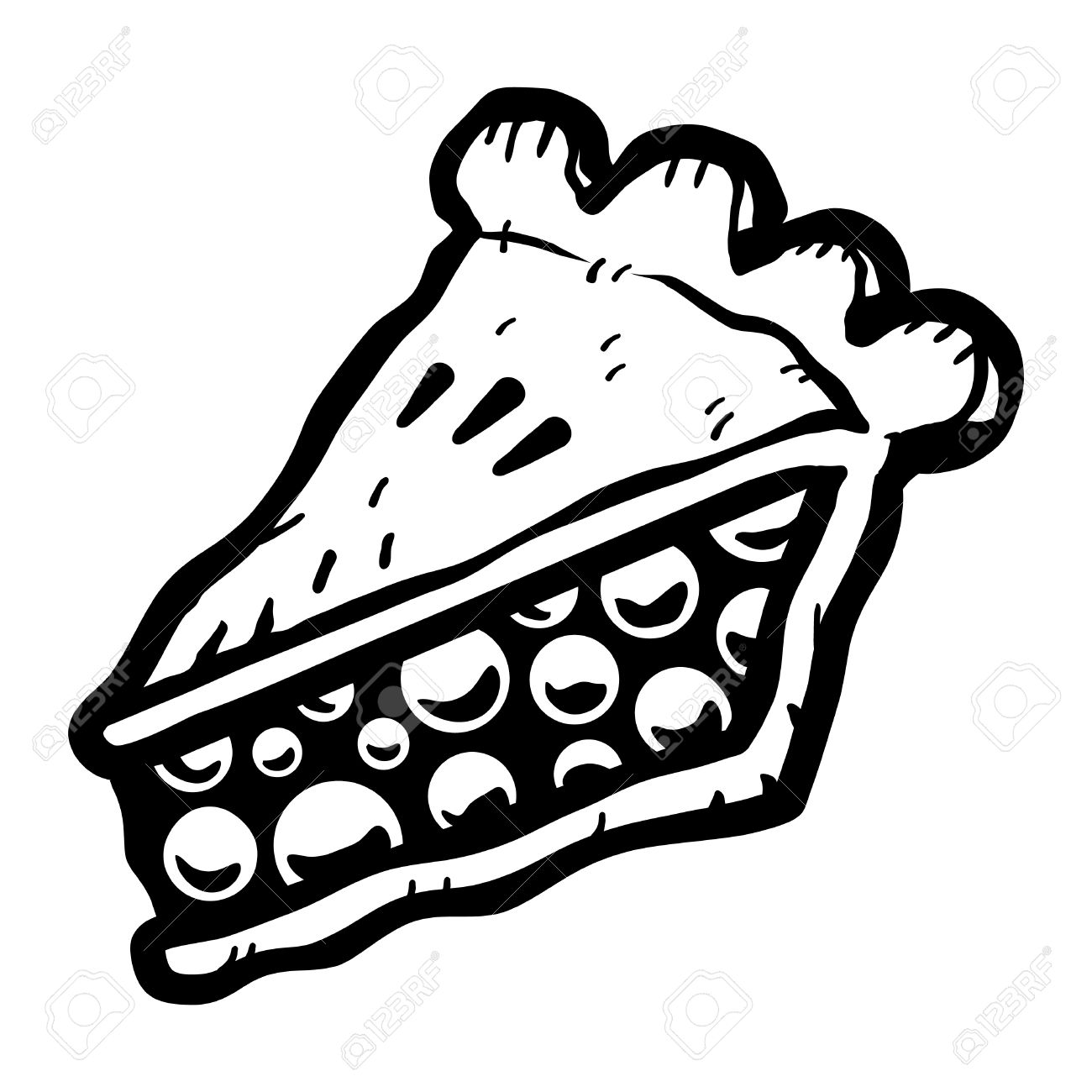 Pie Slice Clipart Black And White.