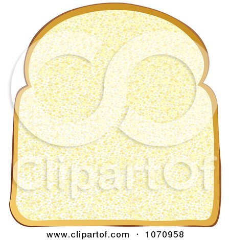 Clipart 3d White Sliced Bread.