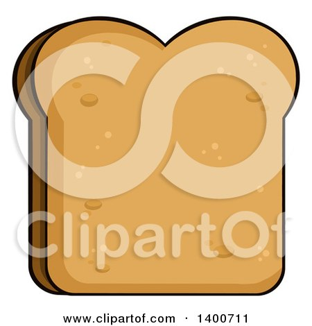 Clipart of a Sliced Bread Mascot Character Waving.