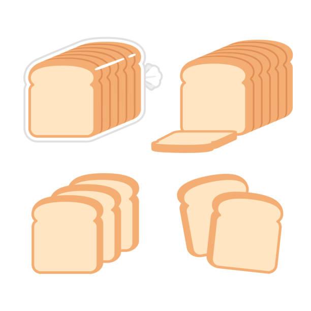 Best White Bread Illustrations, Royalty.