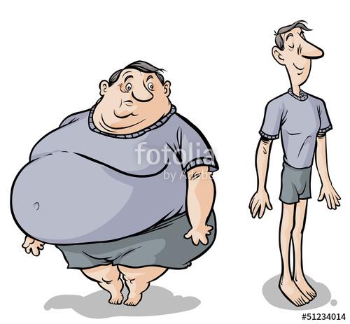 Fat clipart slim person, Fat slim person Transparent FREE.