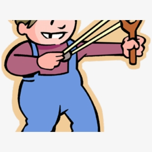 Boy With Slingshot Clipart , Transparent Cartoon, Free.