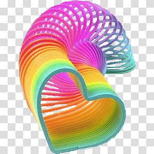 Multicolored slinky toy transparent background PNG clipart.
