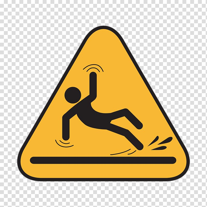 Slippery signage , Wet floor sign Slip and fall Business.