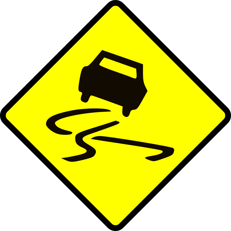 Free Clipart: Slippery when wet.