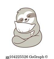 Sloth Clip Art.