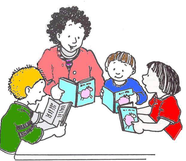 Small Group Learning Clipart.