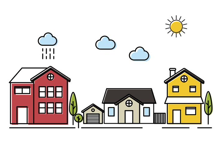 Small town vector.