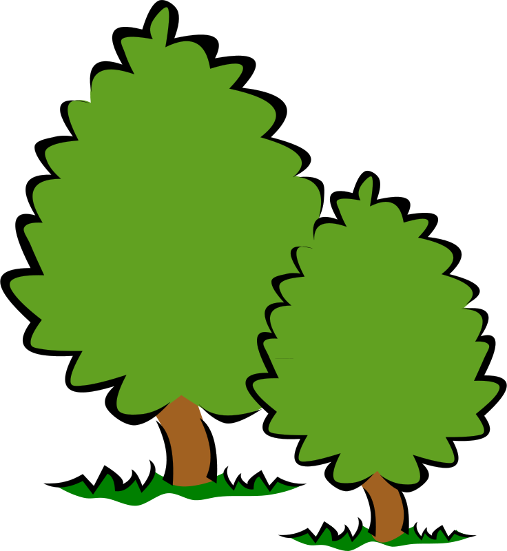 Free Clipart: Small Trees / Bushes.