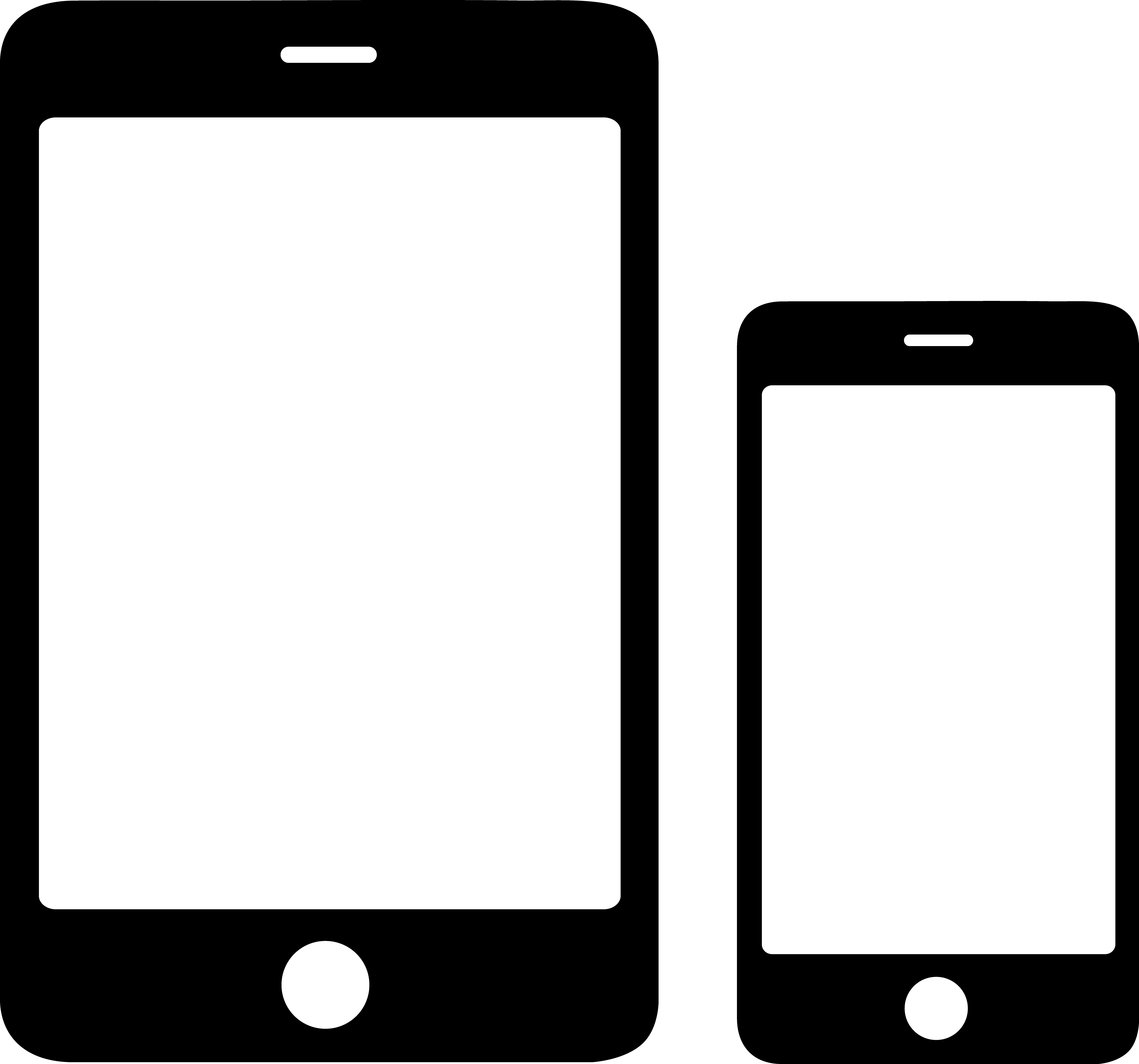 Smartphone and Tablet Icons.