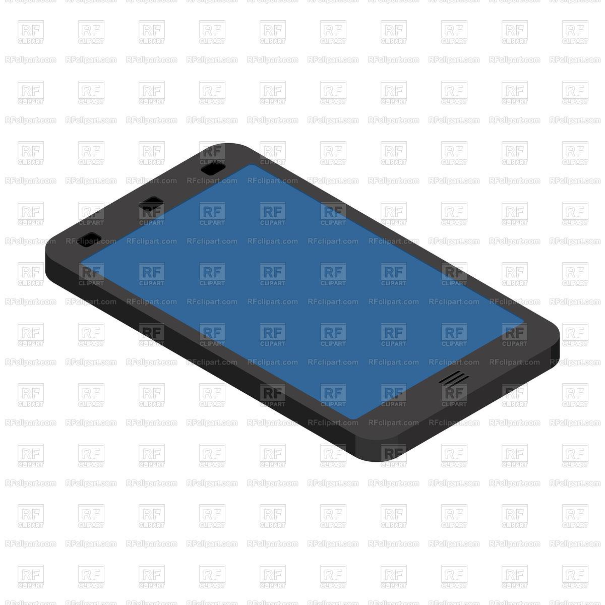 Smartphone isometric style Stock Vector Image.