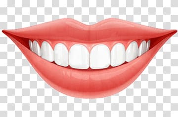 Lips, Bright Smile Teeth transparent background PNG clipart.