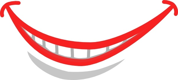 Smile Mouth Teeth clip art Free vector in Open office drawing svg.
