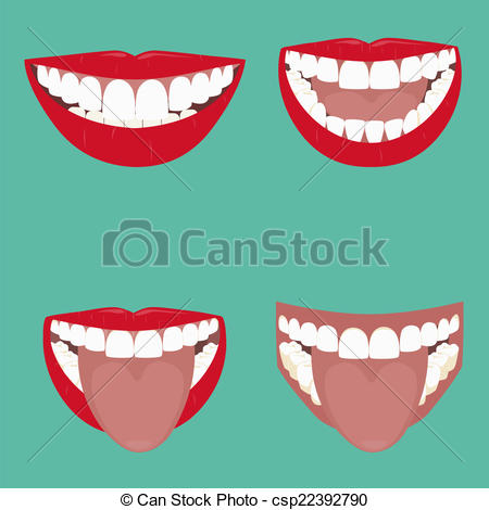 EPS Vectors of Open Mouth Vector illustration. beautiful smile.