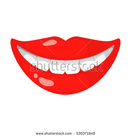Cartoon Smile Teeth Stock Images, Royalty.