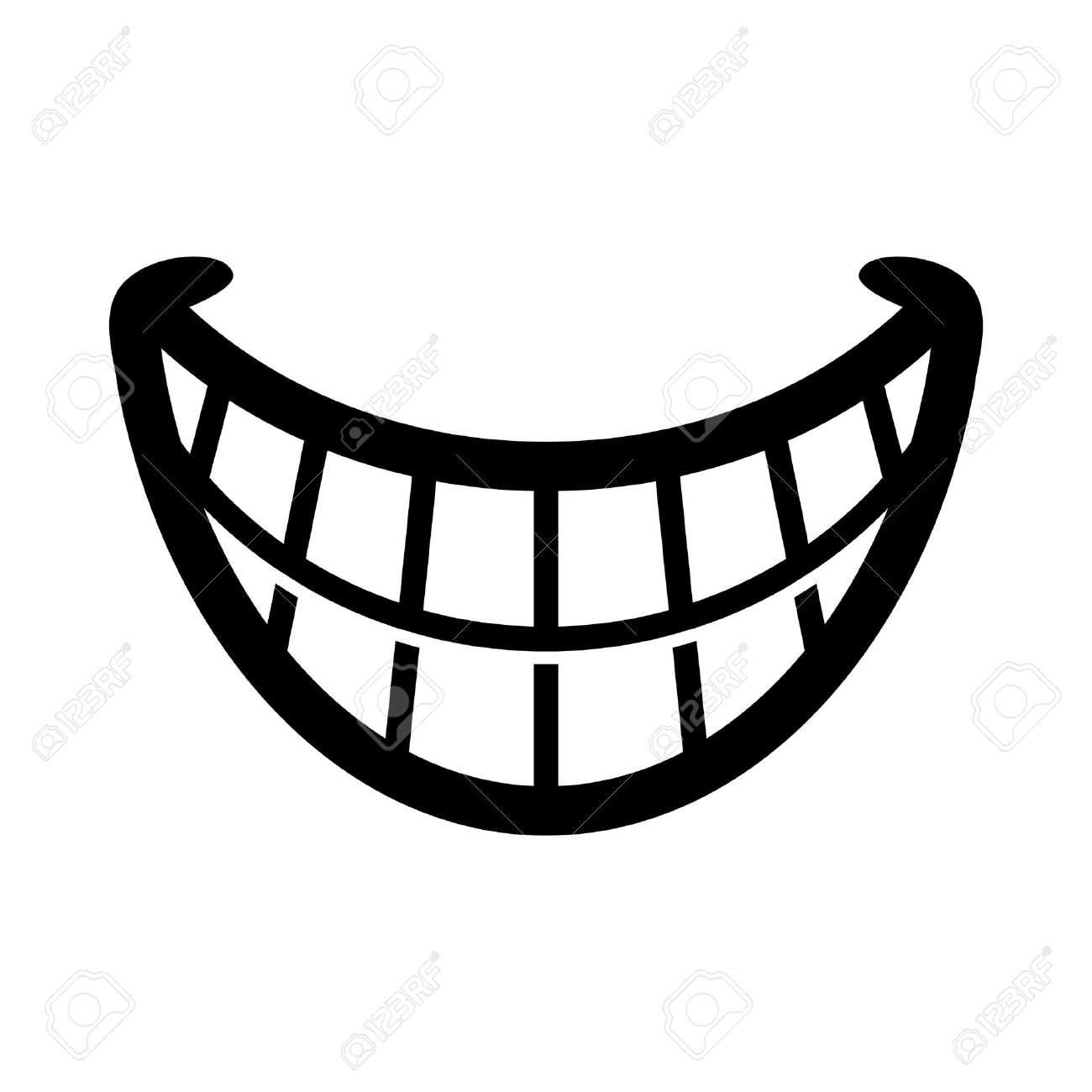 White Teeth Smile Clipart.