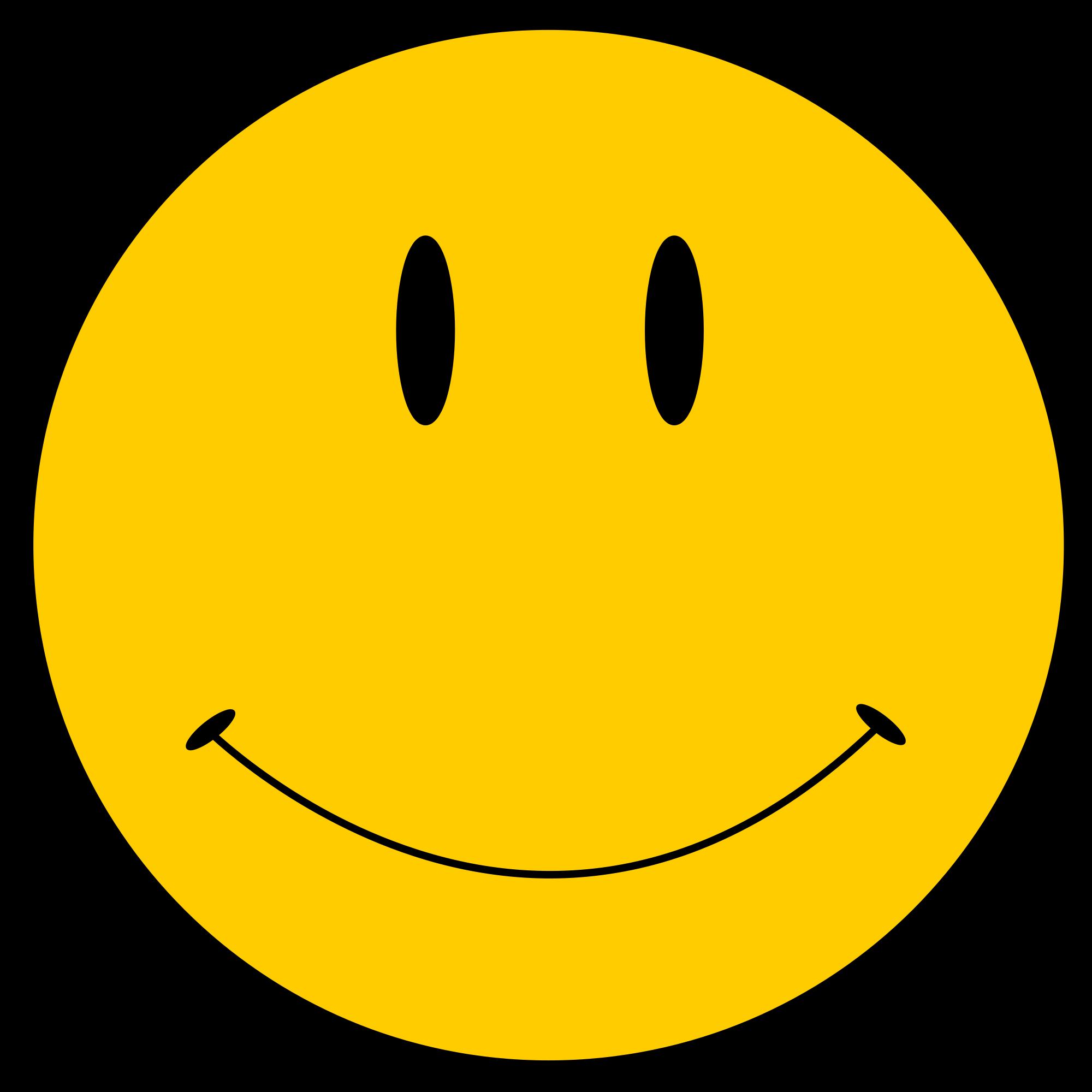 Original smiley face clipart.
