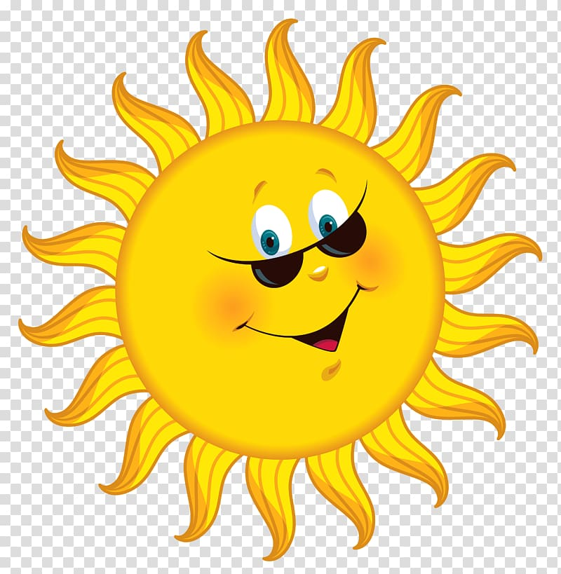 Cartoon , Cartoon Sun , smiling sun illustration transparent.