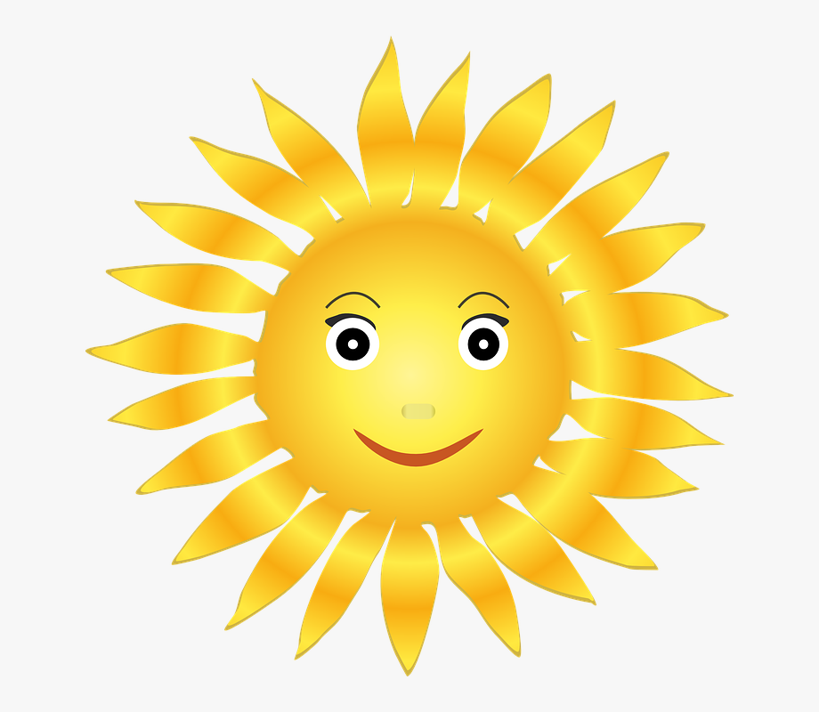 Smiling Sun Clipart.