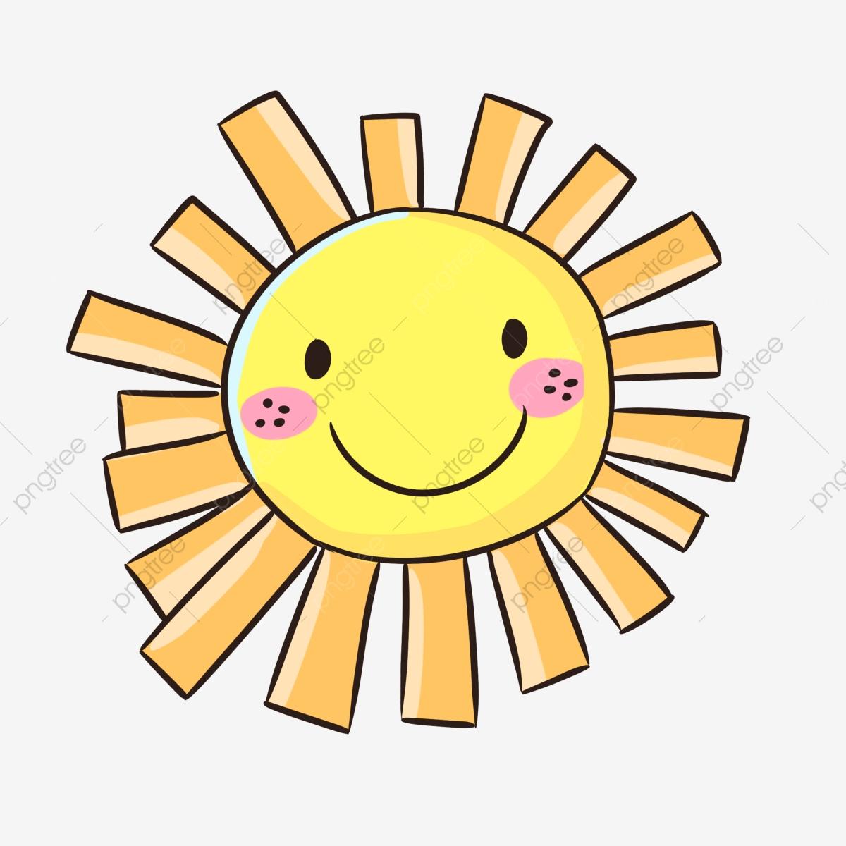 Cartoon Smiley Face Sun Hot Summer, Hot, Summer Sun, Smiley Sun PNG.