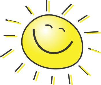 Birthday Smiley Sun Clipart Free.