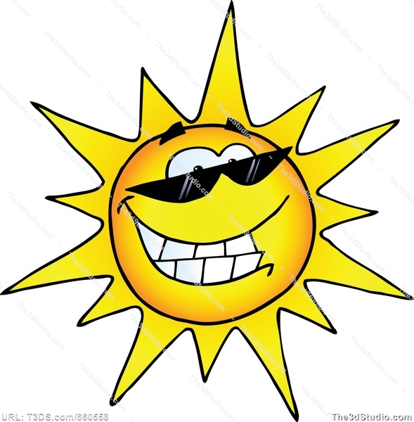 Showing post & media for Cartoon smiling sun clip art.