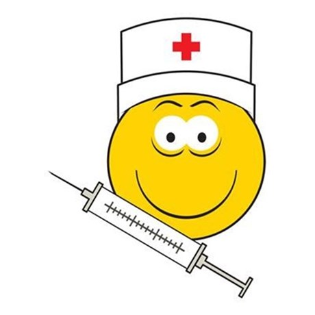 Medical/Doctor Smiley Face Rectangle Decal by dagerdesigns.