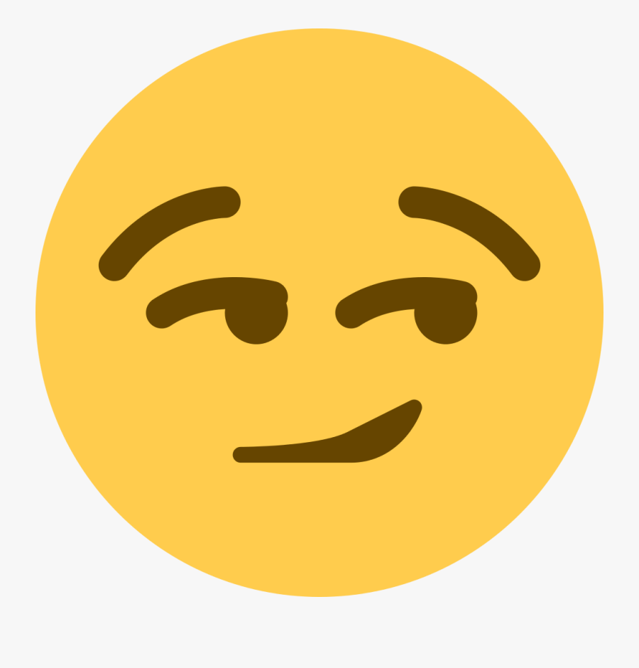 Smirk Emoji Discord Smile Emoticon.