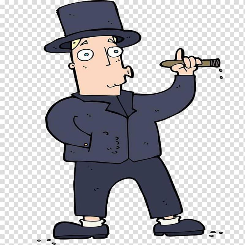 Tobacco smoking Smoke Cigarette, One who smokes in a hat.