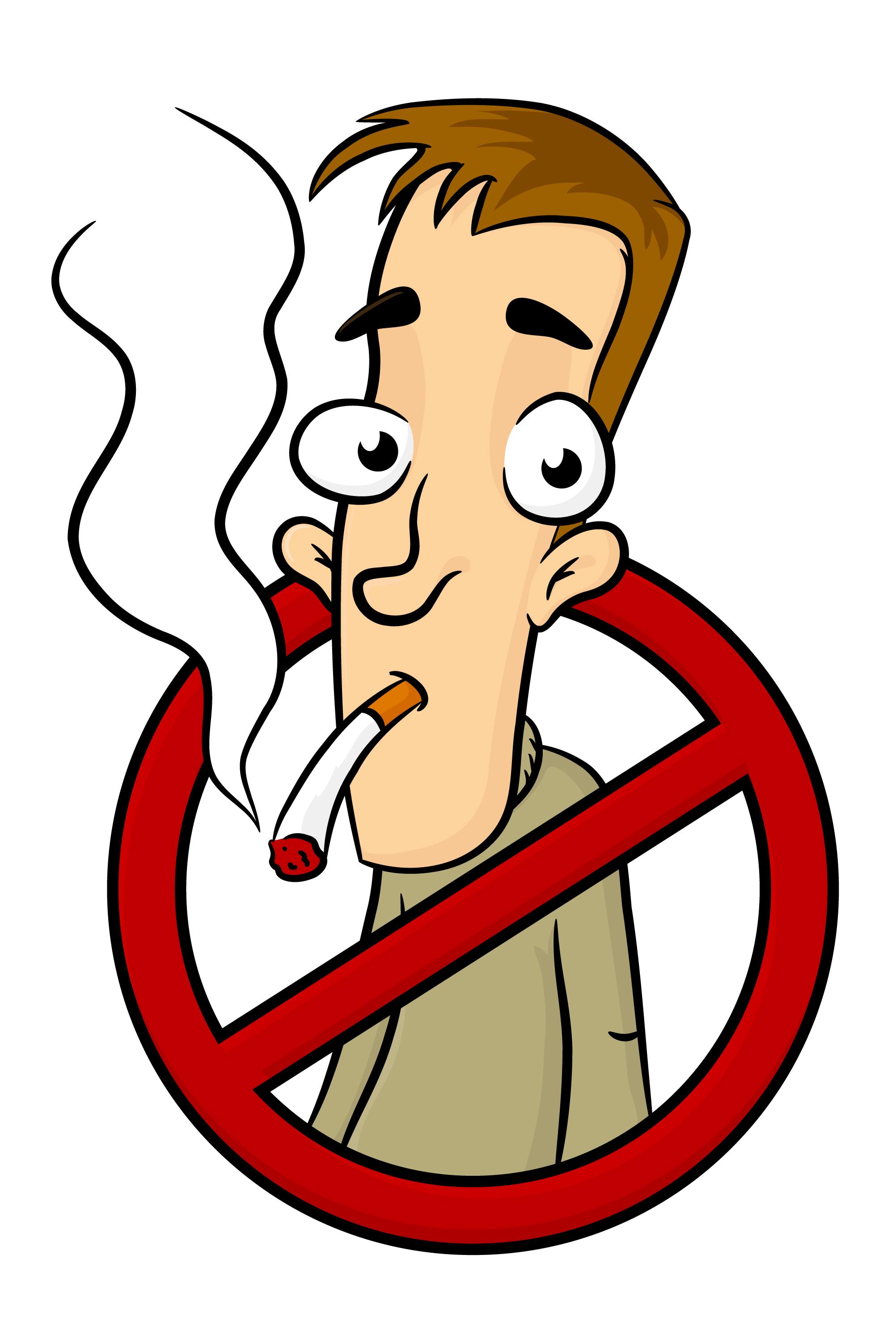 Smoking clipart healthy person, Smoking healthy person.