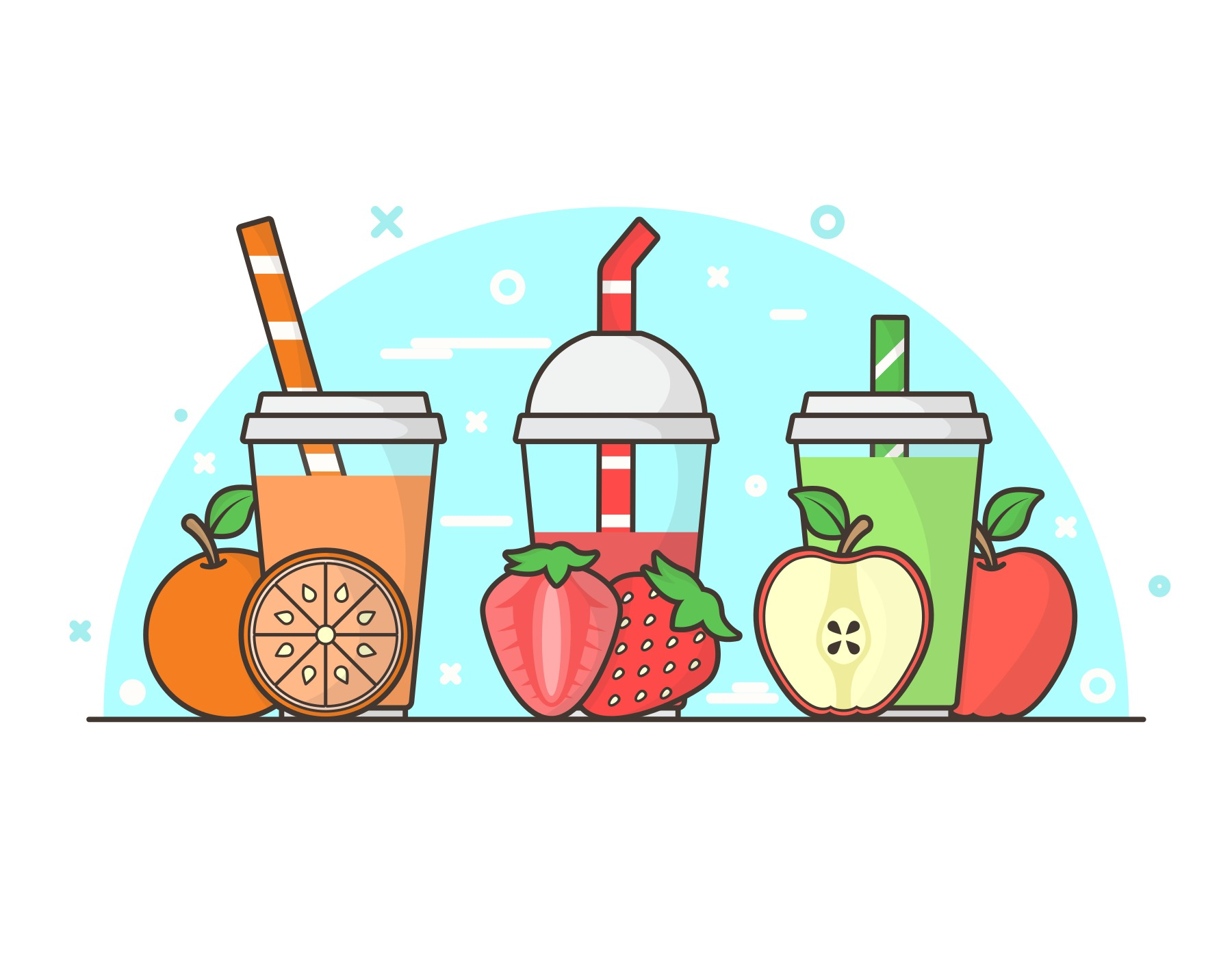 Smoothie Free Vector Art.