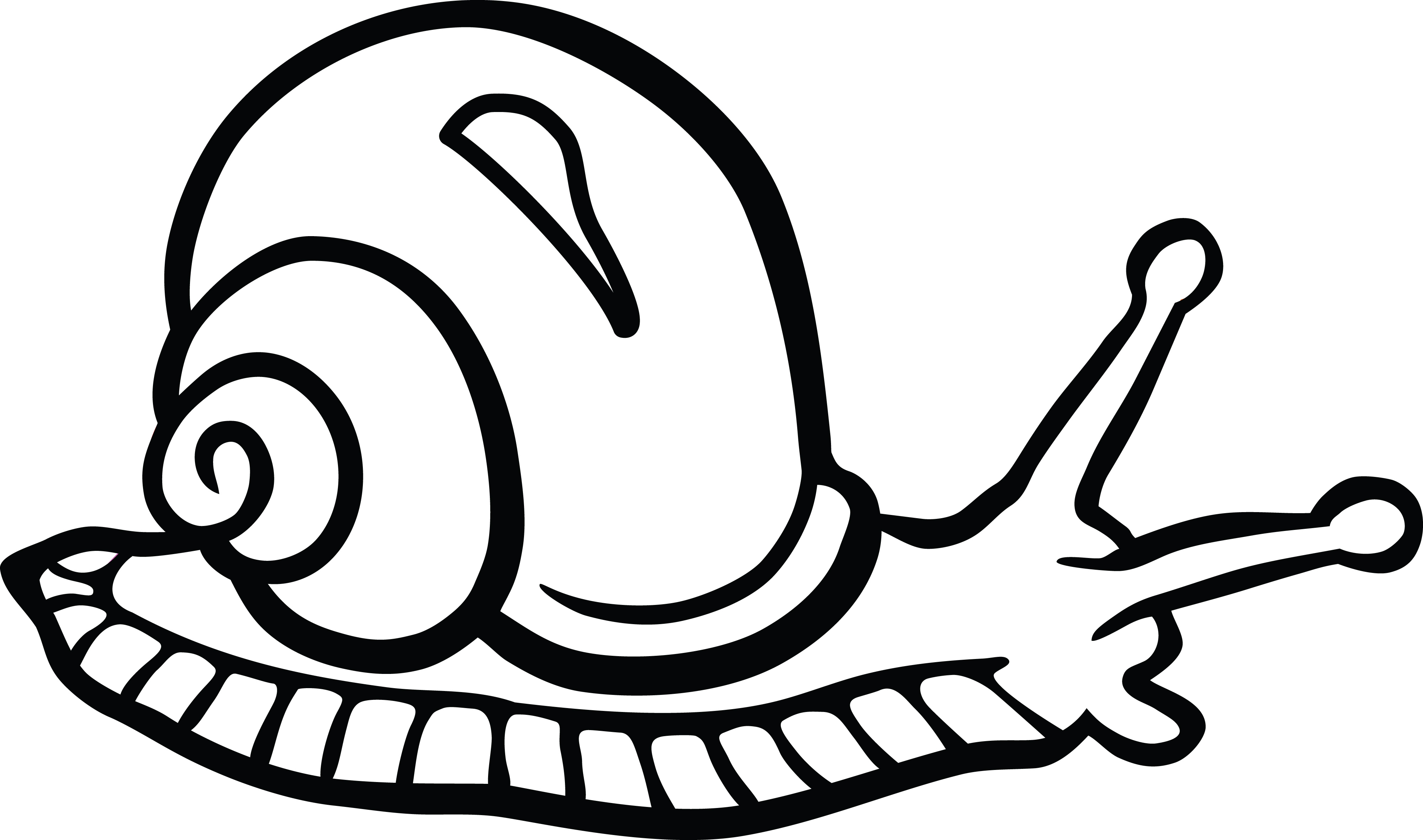 Free Clipart Of A snail.