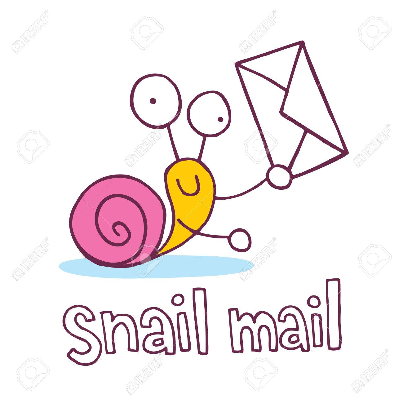 snail mail cartoon character.