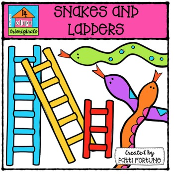 Snakes And Ladders Clip Art & Worksheets.