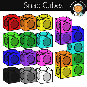 Snap Cubes Clipart.