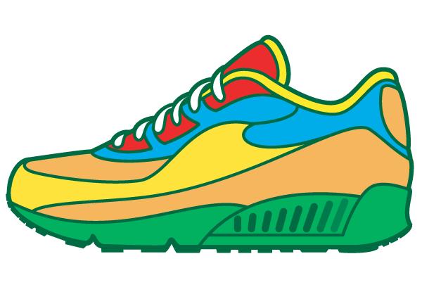 Sneaker Walking Shoes Clip Art Image #21150.
