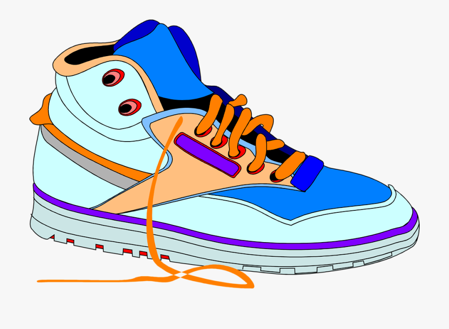 Clipart Of Shoes, Tennis And Shoe.