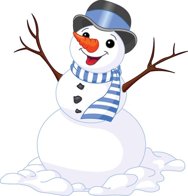 Cheerful Snowman.