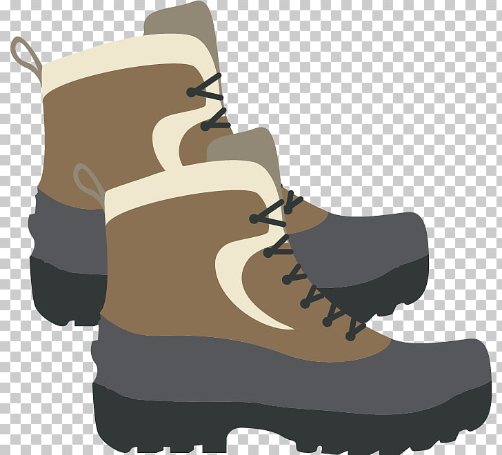 Boot Shoe, gray snow boots PNG clipart.