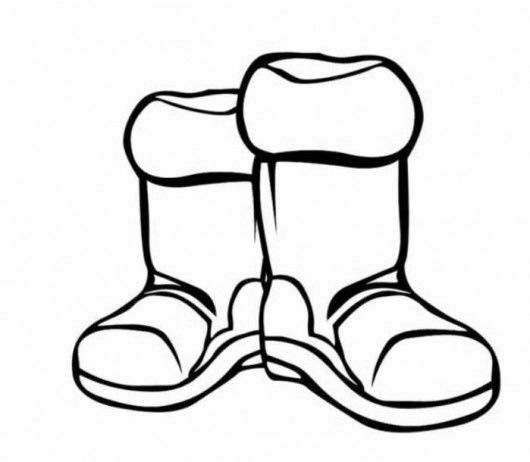 Snow Boots Cliparts.