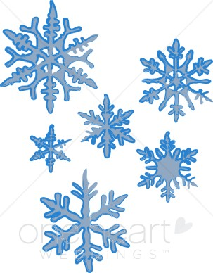 Clipart of Snowflakes.