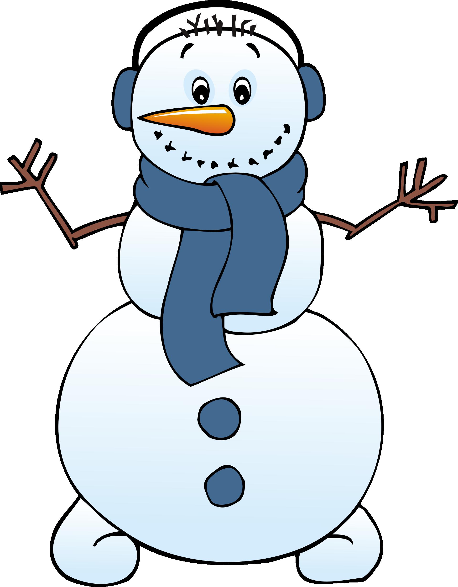 Cute Snowman Clip Art.