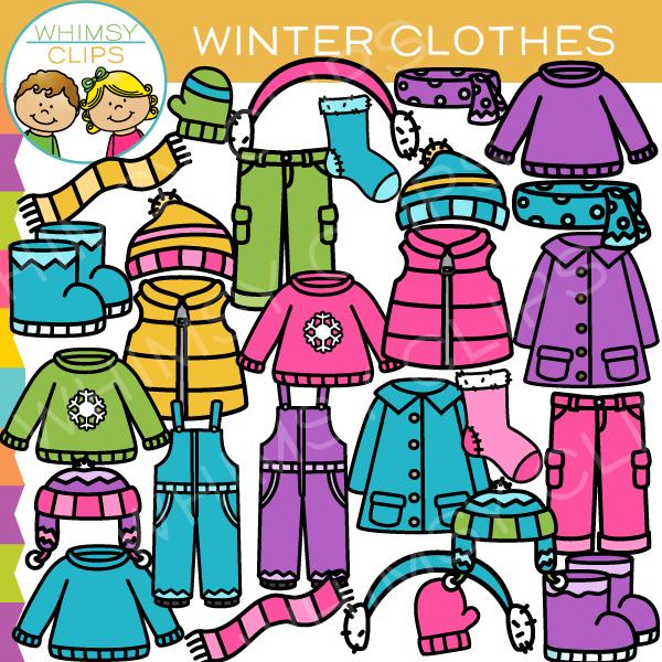 Winter Clothing Clip Art.