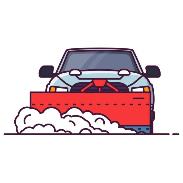 Best Snow Plow Truck Illustrations, Royalty.