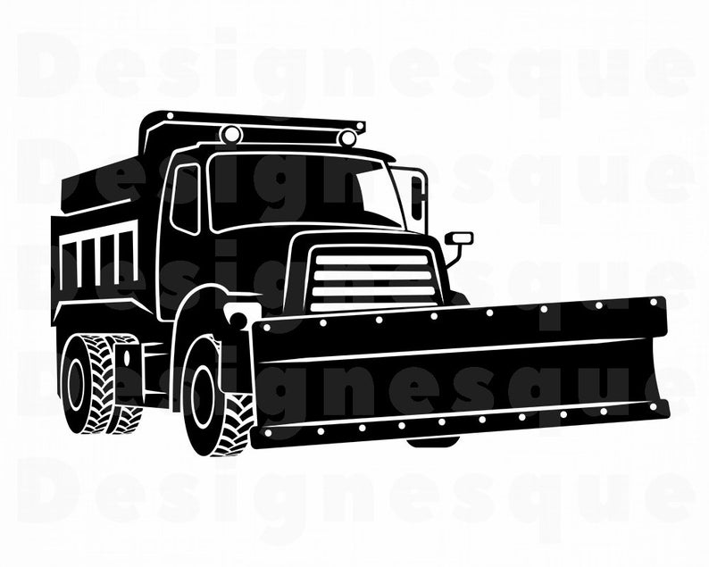Snow Truck #5 SVG, Snowplow SVG, Snow Svg, Winter Svg, Snow Truck Clipart,  Files for Cricut, Cut Files For Silhouette, Dxf, Png, Eps, Vector.