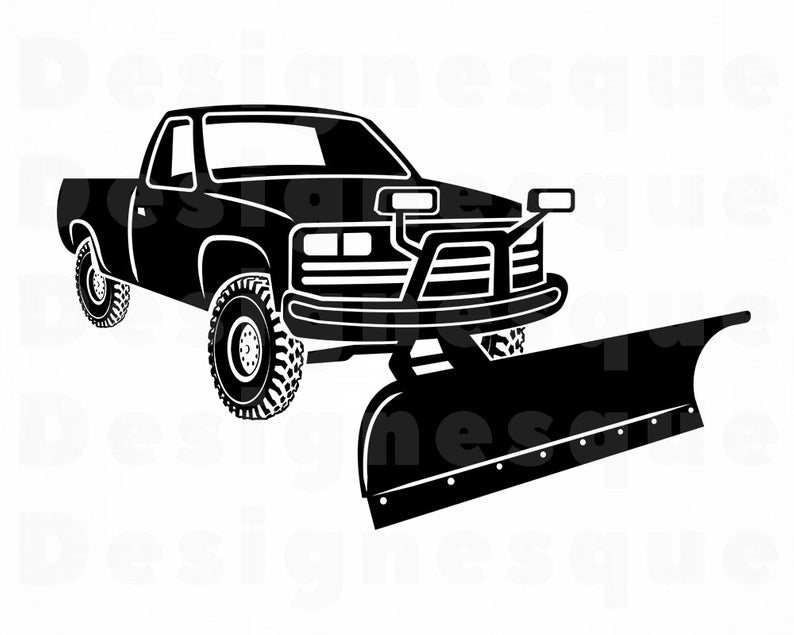 Snow Truck #3 SVG, Snowplow SVG, Snow Svg, Winter Svg, Snow Truck Clipart,  Files for Cricut, Cut Files For Silhouette, Dxf, Png, Eps, Vector.