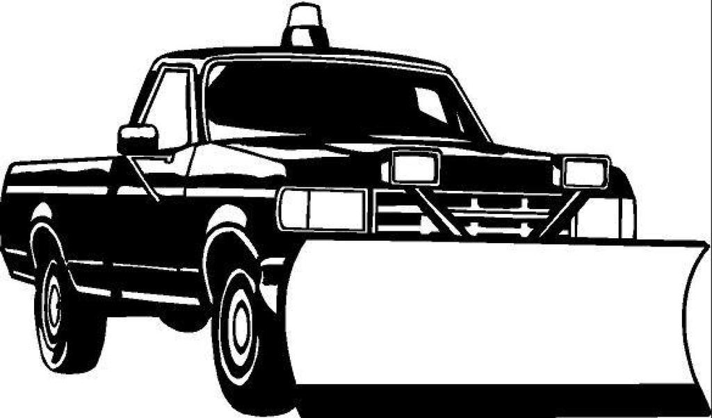 Snow Plow Truck Clipart Activity 883.