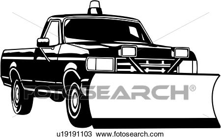 , heavy equipment, construction, pickup snow plow, trade, truck, Clipart.