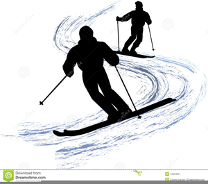 Clipart Snow Skiers.